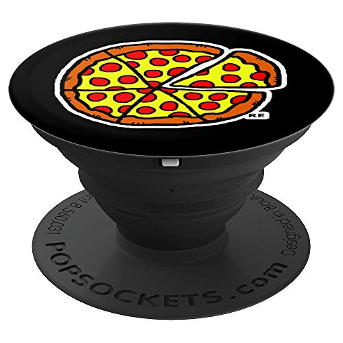 Pizza Gifts Men Women Kids Pepperoni Pizza Party Gift Food - PopSockets Grip and Stand for Phones and Tablets ()