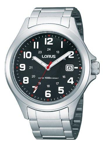 Lorus RXH01IX9 - Reloj analógico de cuarzo para hombre con correa de acero inoxidable, color plateado: Lorus: Amazon.es: Relojes