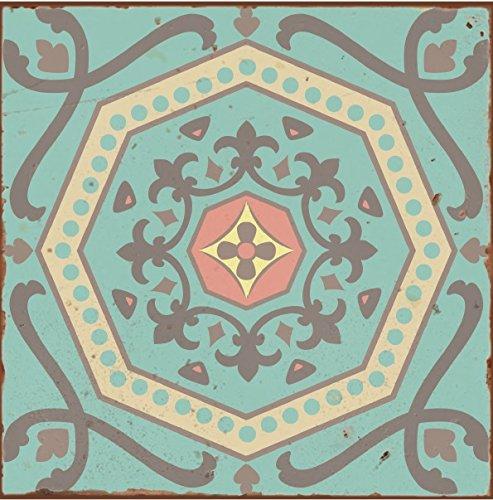 10 Stü ck Style 3 Pastell Pink Blau Grü n Gelb marokkanischem Mosaik Retro traditionellen Aged-Stil viktorianischer Stil Fliesenaufkleber Badezimmer Kü che Stick auf der Wall Tile schä len und Stick Grö ß e 6&nbsp