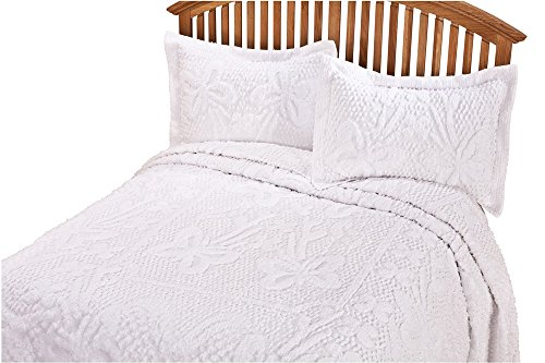 Butterfly Chenille Bedspread (The Caroline Chenille Bedding by OakRidgeTM)