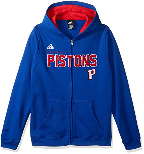 NBA Youth 8-20 Detroit Pistons Stated Full Zip Hoodie -Red-XL(18) Adidas Full Zip Jersey