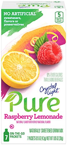 Raspberry Lemonade Punch (Crystal Light Pure Raspberry Lemonade Drink Mix (84 On the Go Packets, 12 Boxes of)