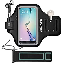 JEMACHE Galaxy Note 8/S7 Edge/S8/S9/S8 Plus Armband, Gym Run/Jog/Exercise Workout Arm Band Case for Samsung Galaxy S8/S9, S8+/S9+, S6/S7 Edge, Note 5 8 with Key/Card Holder