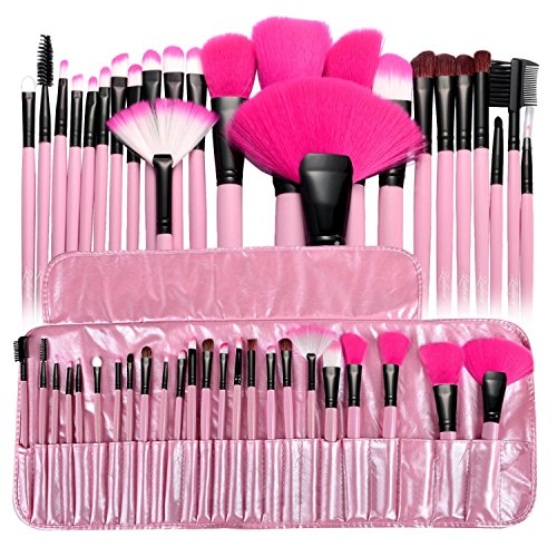Zodaca 24-piece Set Make Up Brushes with Pouch Bag, (6 Piece Makeup Set)