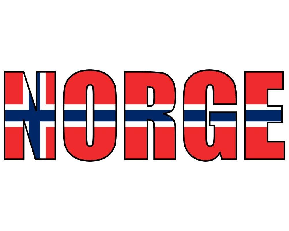 plot4u Norge Schriftzug Aufkleber in 4 Größen (10x3,4cm)