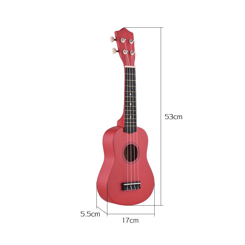 21 inch Ukelele Muslady Colored Acoustic Soprano Ukulele Kit Basswood with Carry Bag Uke Strap Strings Picks Tuner