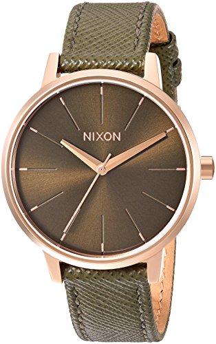 Nixon Women's 'Kensington' Quartz Metal and Leather Automatic Watch, Color:Green (Model: A1082283-00)