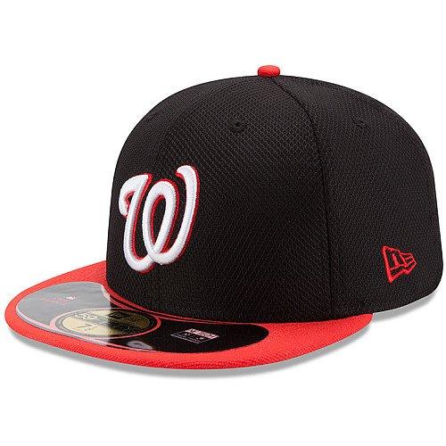 New Era MLB Washington Nationals Diamond Era POP 59FIFTY Fitted Cap (Black/Infrared) (7 3/8)