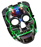 PlayO 8'' LED Light up Scary Death Skull Mask - Great Halloween Costume