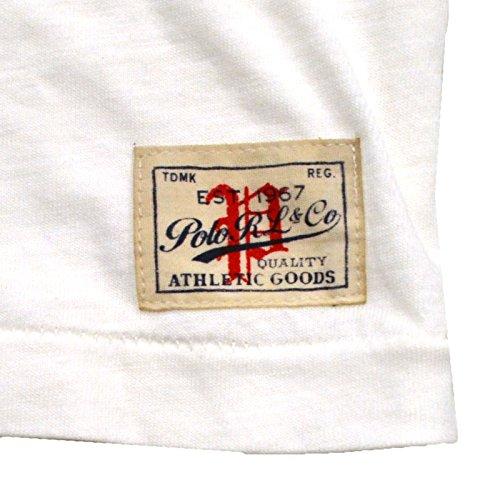 """Polo Ralph Lauren Women's """"Est. 1967"""" Graphic T-shirt ( Trophy Cream) (M)"""