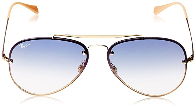 27d175ee79 RAYBAN Unisex's 0RB3584N 001/19 61 Sunglasses, Gold/Clear Gradient Light  Blue: Amazon.co.uk: Clothing