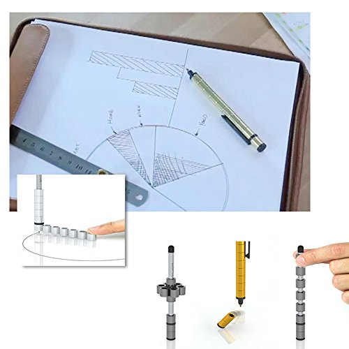 Magnetic Polar Pen, Stylus Pen, Magnet Gel Pen and Touch Screen Pen, Fidget Toy, can be Transformed into a Variety of Creative (Silver) by Empowline (Image #3)