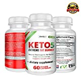 Keto-5 Extreme Fat Burner – Supports Healthy Weight Loss, Mental Focus & Clarity 60 Ct. Extra Strength Ketogenic Supplement Pills For Sale