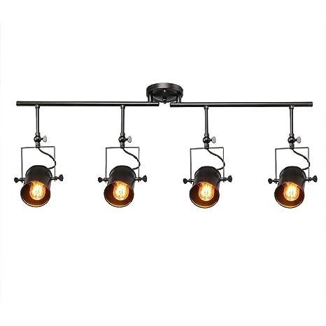 track lighting ceiling. laluz black split rail 4 spotlight track lighting