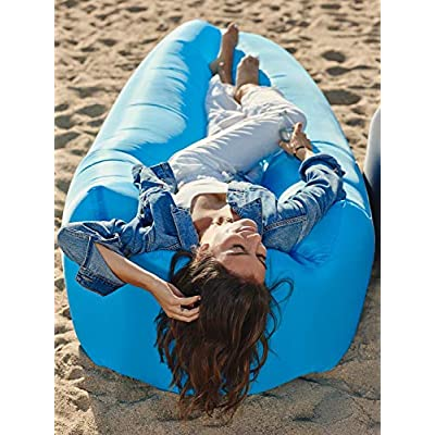 Wekapo Inflatable Lounger Air Sofa Hammock-Portable, Water Proof& Anti-Air Leaking Design-Ideal Couch for Backyard Lakeside Beach Traveling Camping Picnics & Music Festivals : Sports & Outdoors