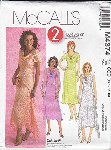 cowl neck dress patterns - 4