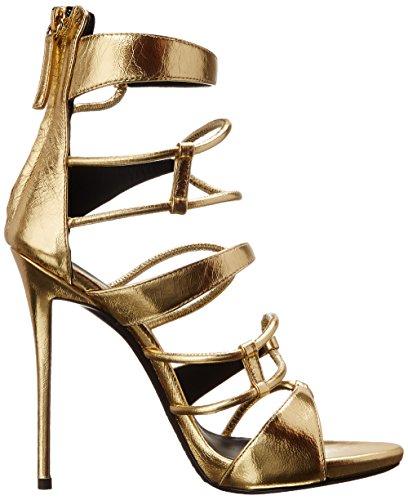 Giuseppe Zanotti Women's Strappy Gold Dress Sandal, Gordon Oro, 6.5 M US