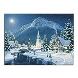 Yikai Christmas Village 5D Diamond Painting DIY Resin Diamond Cross Stitch Kits for Home Decoration and Gift 40x30cm