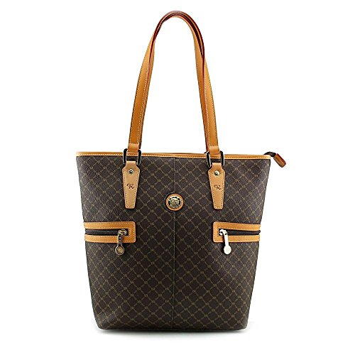 Rioni Tall Tote Shopper - Brown by Rioni