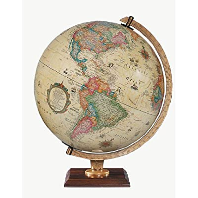 Replogle Globes 83502 Illuminated Carlyle Globe, Small, Off- Off-White: Replogle Globes: Home & Kitchen