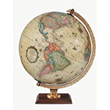 Replogle Globes Illuminated Carlyle Globe, Antique Ocean, 12-Inch Diameter