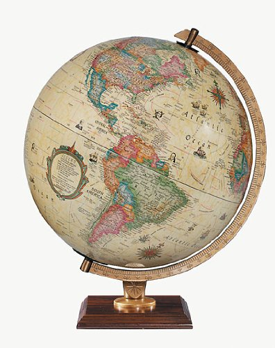 Replogle Globes 83502 Illuminated Carlyle Globe, Small, Off- Off-White