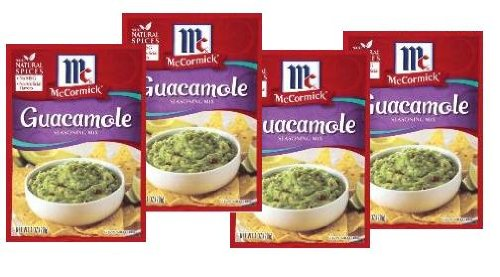 Mix 1 Packet (McCormick Guacamole Seasoning Mix (1 oz Packets) 4 Pack)