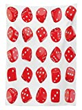 Ambesonne Casino Tablecloth, Vivid Dice Chance Risk