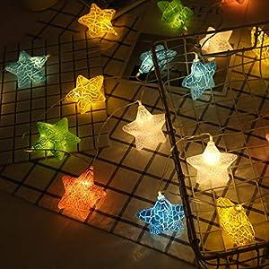 YLSMN Led Light String Crack Star Ball Light String Lights Starry Lights String Decoration Props Baby Lights Projector…