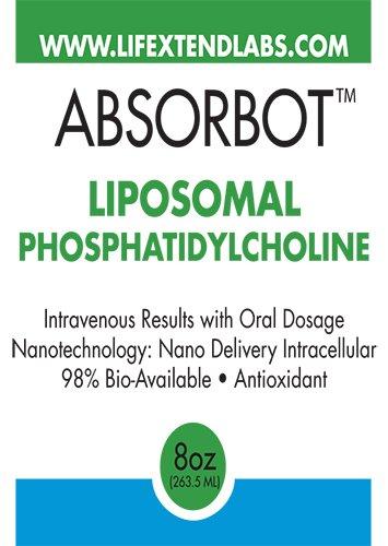 Absorbot Liposomal Phosphatidylcholine Liquid | 8 Oz, Maximum Bio Availability | Supports Immunity, Promotes Skin Health & Collagen Production, Fast Absorbing