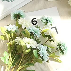 Gotian Artificial Plants Fake Leaf Foliage Bush Home Office Garden Flower Wedding Decor ~ Well Made and Vibrantly Colored ~ Perfect for Wedding Party, Home, Garden, and Coffee House 63