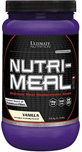 Ultimate Nutrition NutriMeal Meal Replacement Shake Powder for Weight Loss - Only 5g Sugar & 300 Calories - 7g Natural Fiber, 16g Protein, 28 Vitamins & Minerals ()