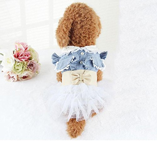 [Q@QQ Pet dog Cowboy bowknot skirt , xxl- about 10-13 jin to wear] (Target Cowboy Dog Costume)
