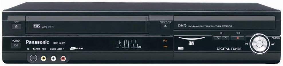 Panasonic DMR-EZ485VK Progressive Scan DVD Recorder with Digital Tuner, VCR . DTV Transition Solution (Renewed)