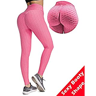 Butt Lift Yoga Leggings Hight Waist Stretchy Workout Booty Pants Textured Scrunch Bum Ruched Tights