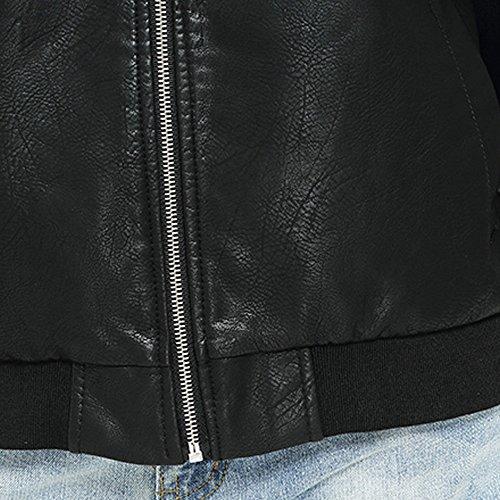 Felpa Nero Lunga Lanskrlsp Zip Taglie Elegante Autunnale S Ecopelle Moda  Forti Pelle Giacca Moto Manica ... 0dc0d8e965d