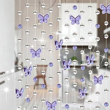 Material: cristal, forma: mariposa, gota de agua, hace que tu hogar se vea fresco y hermoso.,Plane u