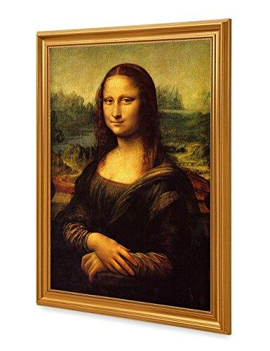 DECORARTS Mona Lisa by Leonardo DaVinci. The World Classic Art Reproductions. Giclee Print with Matching Art Frame, 20x30, Finished size: (Mona Lisa Smile Painting)