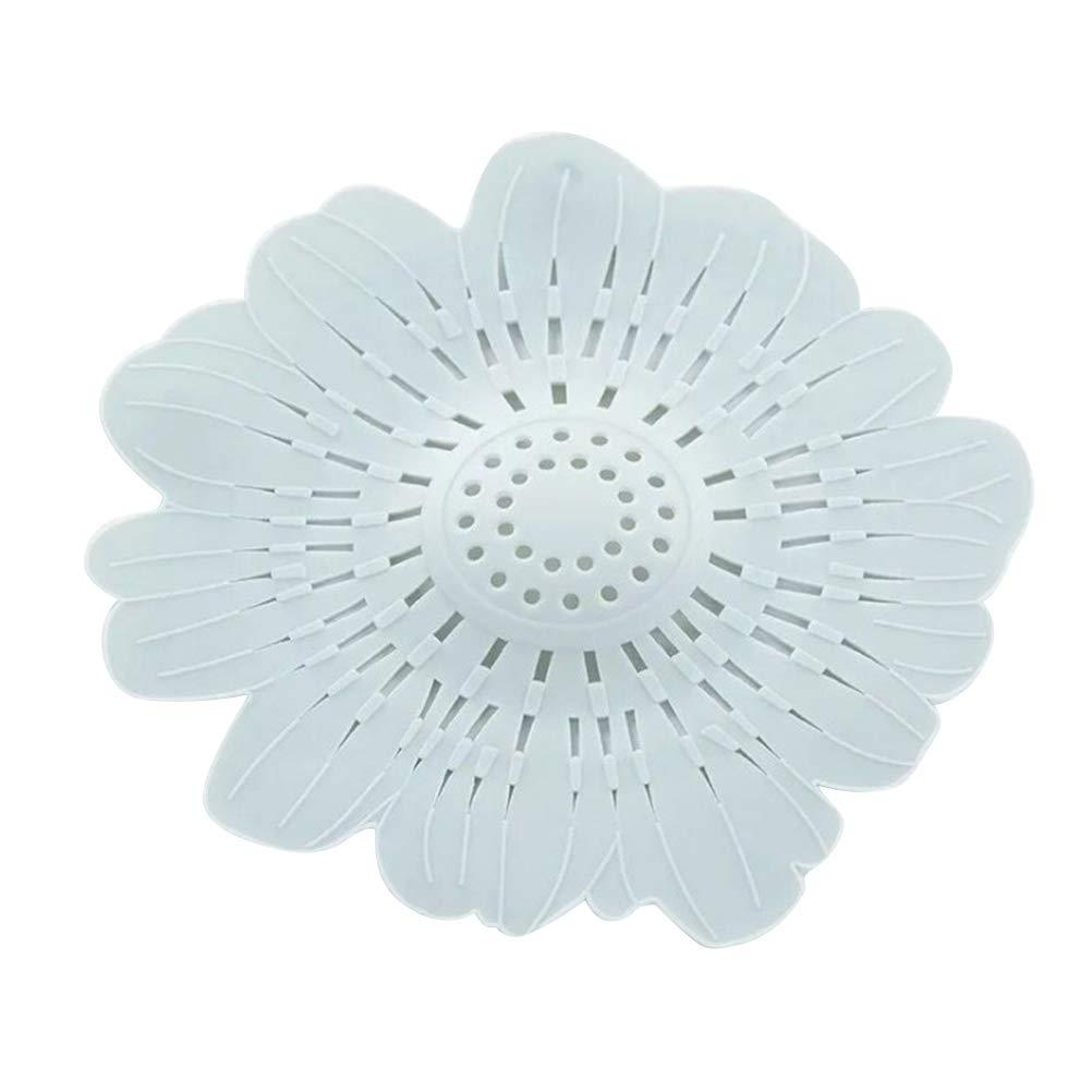 BESTONZON Waschbecken Abflussfilter Blume Silikon Badewanne Haarfä nger Passt die Meisten Kü che Bad Wä sche (blau)