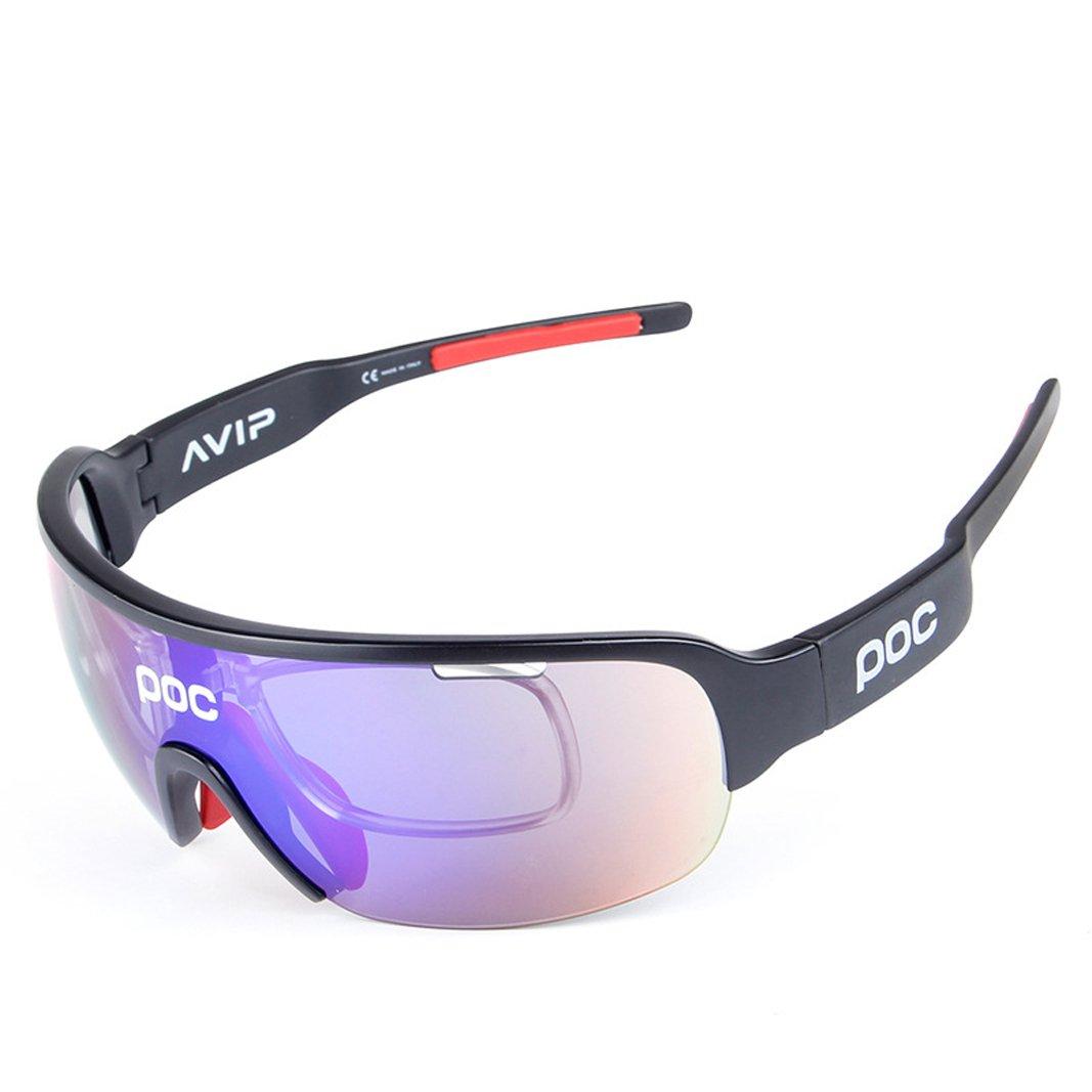 opel-r elegante exterior bici en gafas de sol polarizadas TR90–Material resistente al impacto gafas de sol Para Ciclismo/Deportes//Contiene Lentes de cinco, bright black