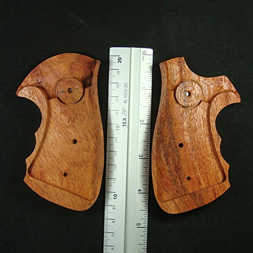 RUAYMAK HANDIWORKGRIPS ROSEWOOD GRIPS SMITH&WESSON REVOLVERS N FRAME, SQUARE BUTT HANDMADE SILVER MEDALLIONS FINGER GROOVE SPORT OUTDOOR SWN-128 by RUAYMAK (Image #1)