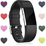 Wepro For Fitbit Charge 2 Bands, Replacement Bands for Fitbit Charge 2 HR, Small Large, Mutil Colors