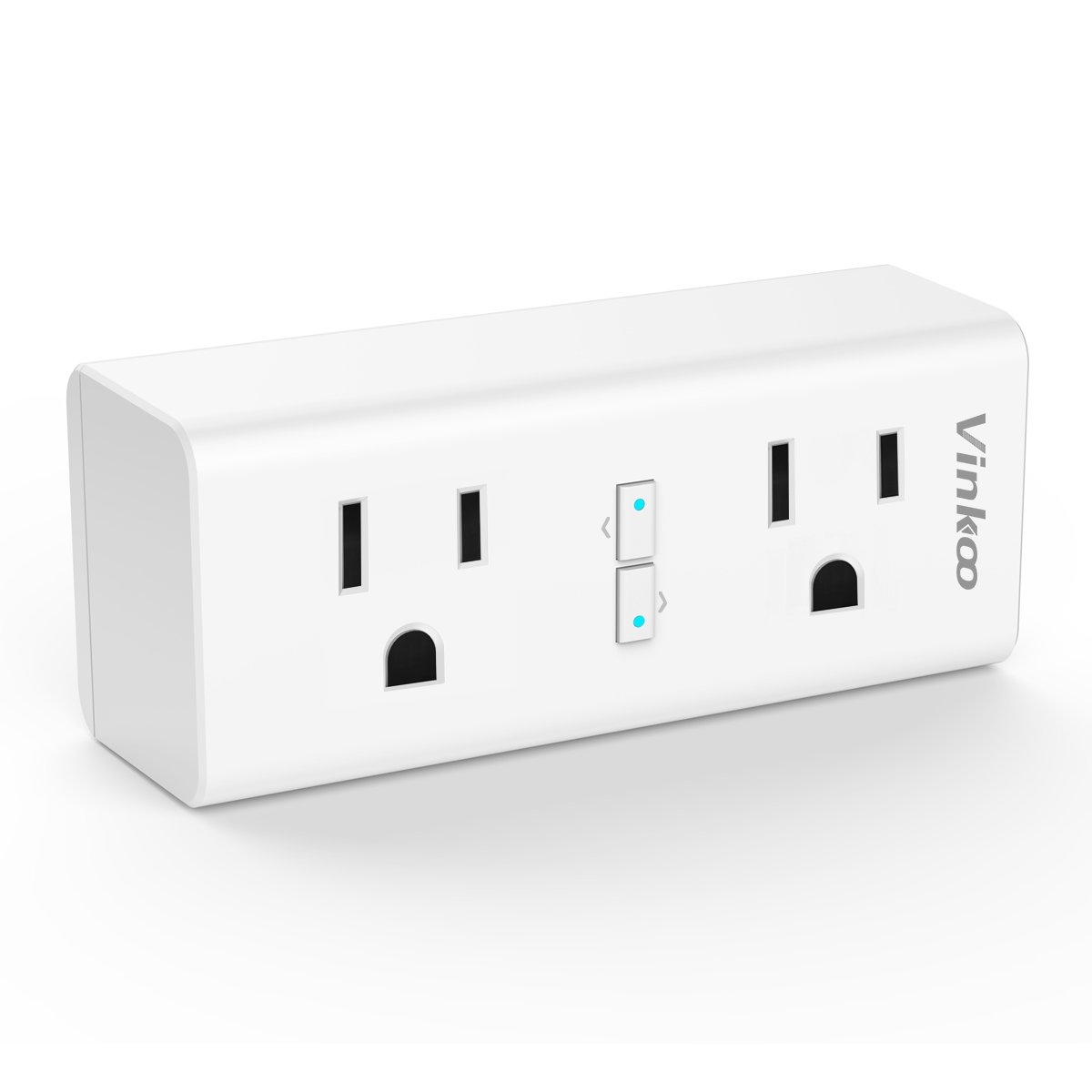 Smart Plug VinKoo Wifi Outlet 2 in 1 Smart Outlet Compatible with Alexa and IFTTT Google Home No Hub Required with Timer Energy Monitoring Can Work Individually or in Groups Nanx – 2 Pack