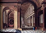 Gerard Houckgeest Interior of an Imaginary Catholic Church in Classical Style - 24'' x 32'' 100% Hand Painted Oil Painting Reproduction