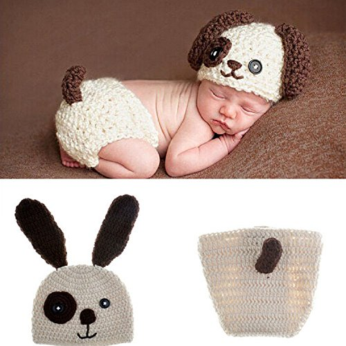 [Oliviabeauty Infant Newborn Baby Girl Boy Cute Knit Hat Costume Photography Prop Outfit Set] (Cute Unique Costumes)