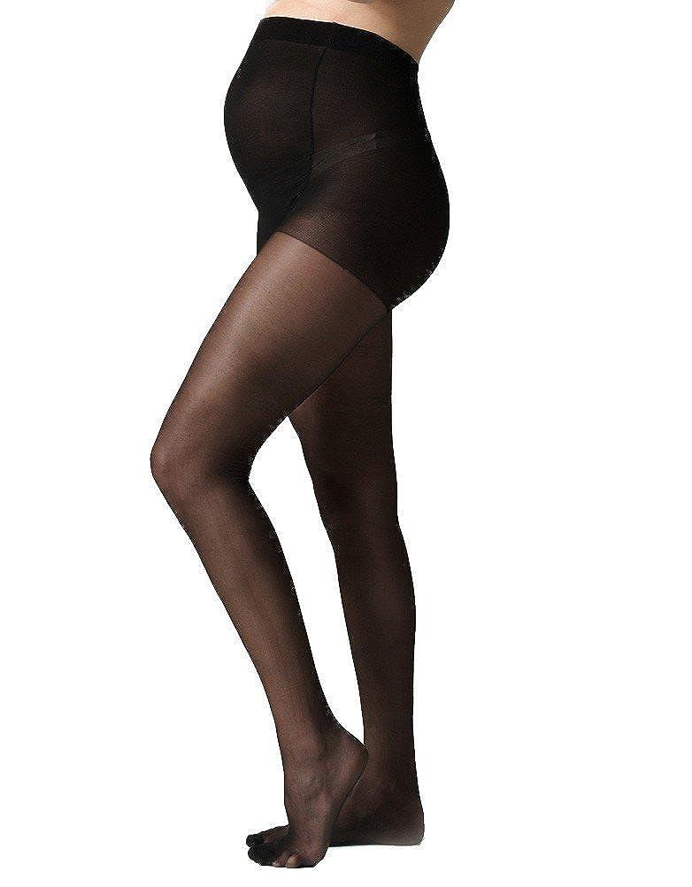 Seraphine Womens 40 Denier Over-Bump Maternity Tights