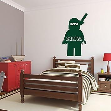 Enid545anne Autocollant Mural Personnalise Lego Ninjago Avec Nom