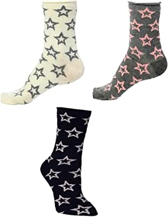 3 Pairs Socks - Cotton Colorful Special Designed, Soft, Style, Comfort Socks
