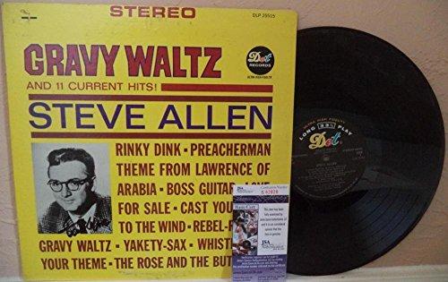 (Steve Allen Gravy Waltz Signed Autographed Vintage Album S62828 - JSA Certified)