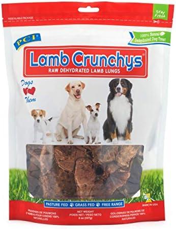 Pet Center, Inc. PCI Lamb Crunchys Raw Dehydrated Lamb Lungs Dog Treats, 8 Ounce Pack